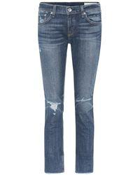 Rag & Bone Jeans cropped Dre - Blu