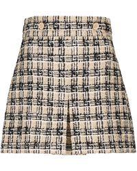 Gucci Minirock aus Tweed - Natur