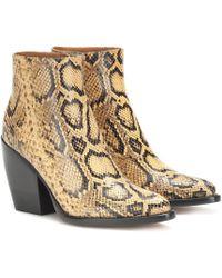 Chloé Exklusiv bei Mytheresa – Ankle Boots Rylee aus Leder - Mehrfarbig