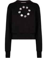 Christopher Kane Verziertes Sweatshirt aus Baumwolle - Schwarz