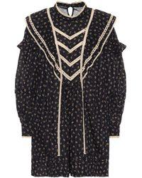Étoile Isabel Marant Robe Rebel imprimée en coton - Noir