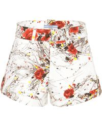 Prada - Exclusive To Mytheresa. Com – Printed Denim Shorts - Lyst