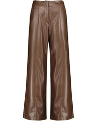 Nanushka Namas Flared Faux Leather Trousers - Brown