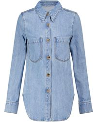 Nanushka Seint Denim Shirt Jacket - Blue