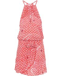 Poupette - Diamond-print Blouson Dress - Lyst