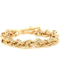 JW Anderson Gold-plated Bracelet With T-bar Fastening - Metallic