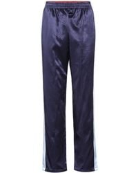Opening Ceremony Reversible Silk Satin Trackpants - Blue