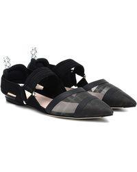 Fendi Colibrì Slingback Ballet Flats - Black