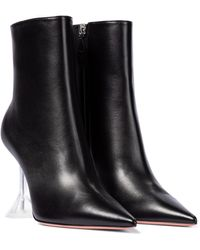 AMINA MUADDI Giorgia Leather Ankle Boots - Black