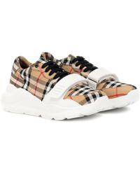 Burberry Zapatillas de algodón de cuadros - Neutro