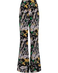 Diane von Furstenberg Federica High-rise Silk Wide-leg Trousers - Black