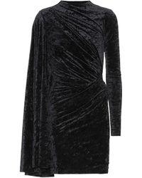 Balenciaga Vestido de terciopelo arrugado - Negro