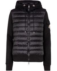Moncler Sweat-shirt à capuche et veste doudoune Maglia - Noir