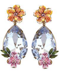 51ad5ac2414a Dolce   Gabbana - Aretes colgantes de clip con cristales - Lyst