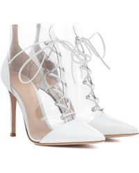 Gianvito Rossi - Icon Leather-trimmed Ankle Boots - Lyst