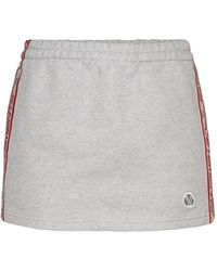 Vetements Minirock aus Jersey - Grau