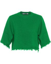 Valentino Jersey cropped de cachemira - Verde