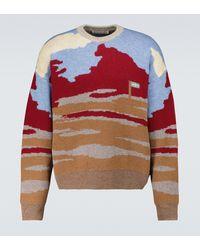 Acne Studios Jersey de lana y algodón en jacquard - Multicolor