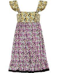 Valentino - Printed Cotton Minidress - Lyst