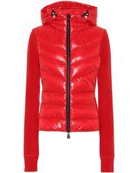 3 MONCLER GRENOBLE Down-trimmed Jacket - Red