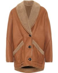 Isabel Marant Audrina Shearling And Leather Jacket - Multicolour