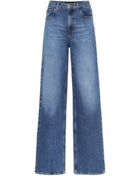 J Brand X Elsa Hosk – Jean ample Monday à taille haute - Bleu