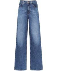 J Brand X Elsa Hosk High-Rise Jeans Elsa Monday - Blau