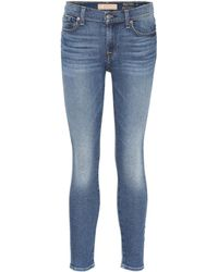7 For All Mankind - Jeans The Ankle Skinny Crop - Lyst