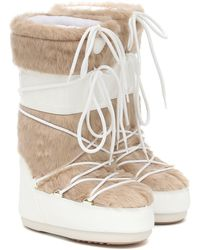 Moon Boot Classic Faux Fur Snow Boots - White