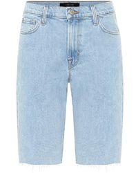 J Brand Bermuda di jeans - Blu