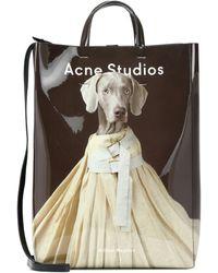Acne Studios Tote Baker estampado - Marrón