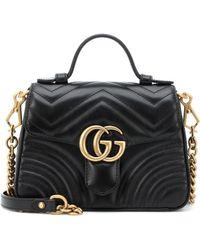 Gucci - Borsa GG Marmont Small in pelle matelassé - Lyst