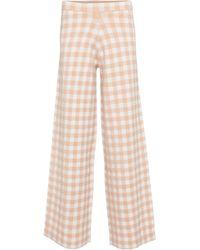 STAUD Pantalon ample Avalanche à taille haute à carreaux - Neutre
