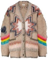 Etro Cardigan oversize en mélange de laine et d'Alpaga - Neutre