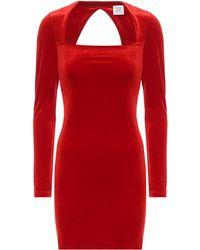 Vetements Vestido corto de terciopelo - Rojo