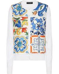Dolce & Gabbana - Printed Silk Cardigan - Lyst