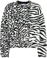 Proenza Schouler Animal-jacquard Sweatshirt - Black