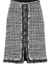 Giambattista Valli High-rise Tweed Miniskirt - Black