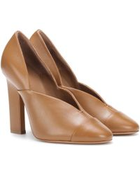 Victoria Beckham - Lucie Leather Court Shoes - Lyst