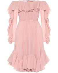 Giambattista Valli Off-shoulder Silk Minidress - Pink