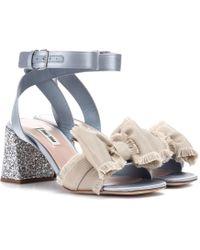 Miu Miu - Satin Sandals - Lyst
