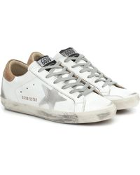 Golden Goose Deluxe Brand Superstar Sneakers Aus Leder Und Veloursleder In Distressed-optik - Weiß