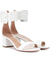 Aquazzura - Casablanca 50 Leather Sandals - Lyst