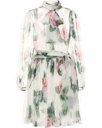 Dolce & Gabbana Minikleid aus Seiden-Chiffon - Mehrfarbig