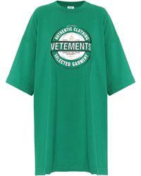 Vetements Logo Cotton T-shirt - Green