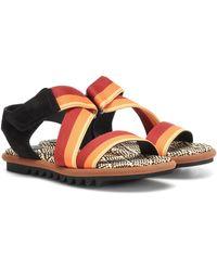 Dries Van Noten Leather-trimmed Sandals - Multicolor