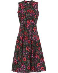 Marni Floral-print Full-skirt Dress - Red