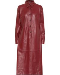 Dodo Bar Or Leather Shirt Dress - Red