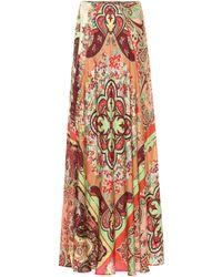 Etro Paisley Jacquard Maxi Skirt - Multicolor