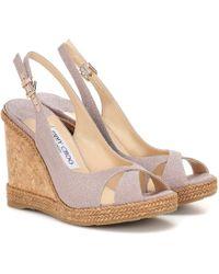 Jimmy Choo Amely 105 Platform Wedge Sandals - Multicolour